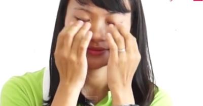 massage chữa mắt cận