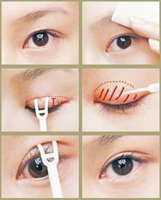 Cách dùng keo dán tạo mắt 2 mí
