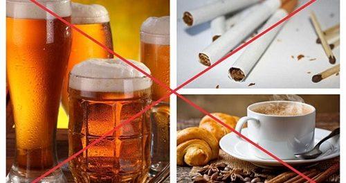 Hạn chế sử dụng cách chất kích thích như bia, rượu, cà phê,..